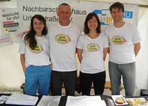 Team Jede Stimme auf dem Festival gegen Rassismus